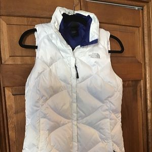 North face White Puffer Vest